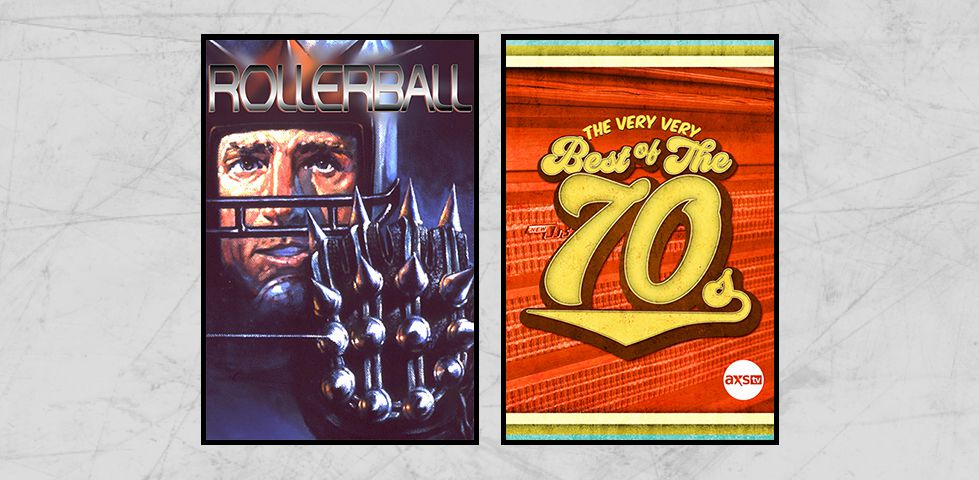 Featured programming on DISH Studio Ch. 102 for August 2019 includes 'Rollerball' and The Best of the Seventies