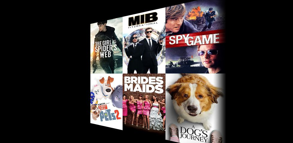 Featured movies for purchase include Bridesmaids, Men in Black International, Secret Life of Pets, and more