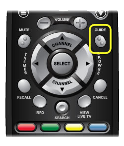 GUIDE button on 40.0 remote