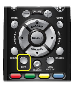 Info button on 40.0 DISH remote