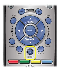 Search button on DISH remote