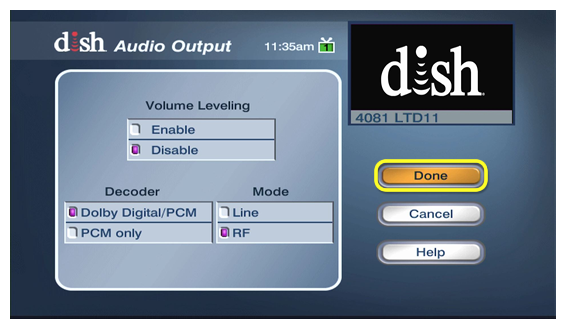 Dish Latino Internet >> How to Set Audio Preferences on a ViP Receiver | MyDISH ...