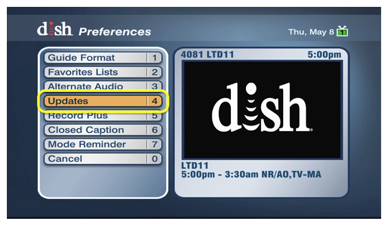 How Set Display Preferences on a ViP Receiver | MyDISH