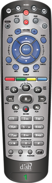 20 0/20 1 Remote Control Overview | MyDISH | DISH Customer