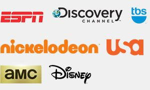 Disney, Nickelodeon, AMC, USA, TBS, Discovery Channel, & ESPN Logos
