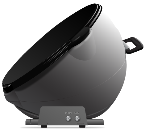 side view of Pathway X2 portable dish