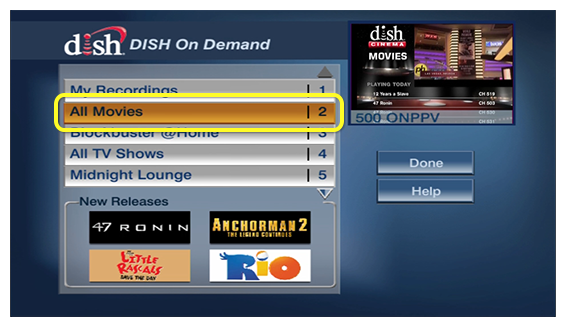 On Demand How To\'s | MyDISH | DISH Customer Support