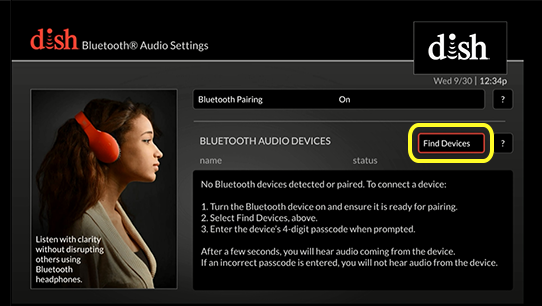 Button to find devices