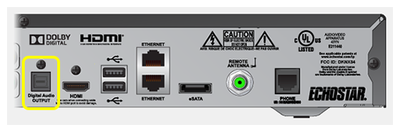 digital audio output port on receiver