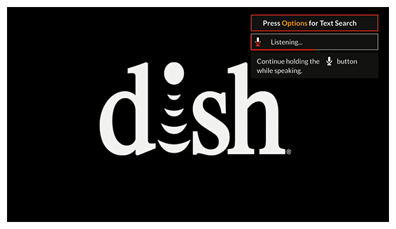 dish screen with listening icon