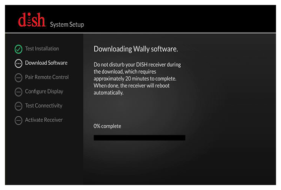 Software Download screen with progress bar