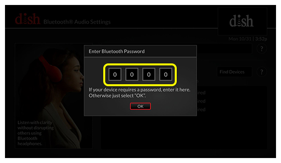 Password entry field