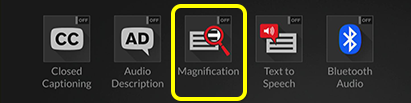 Magnification option