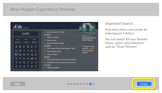 New Hopper Experience preview screen