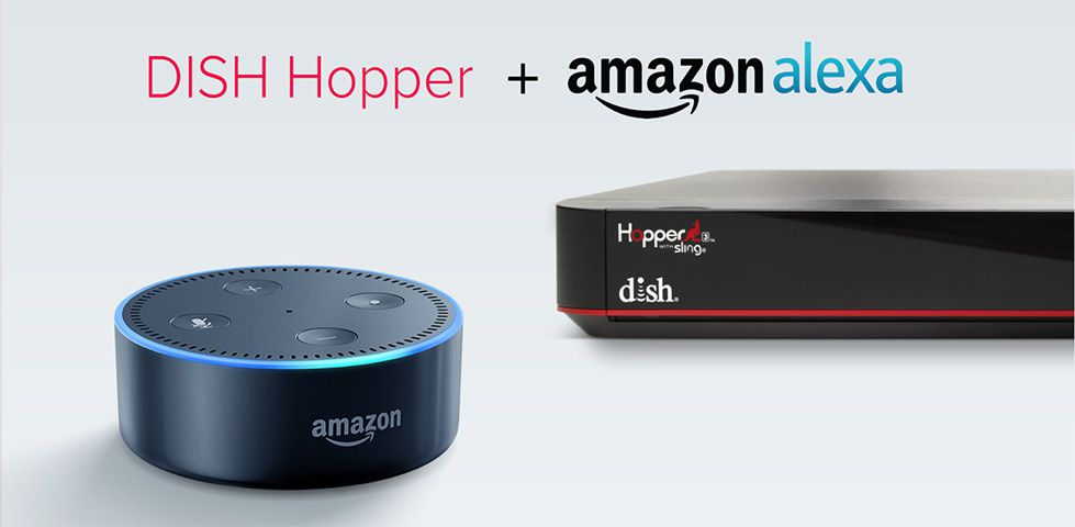 DISH Hopper 3 and Amazon Echo Dot