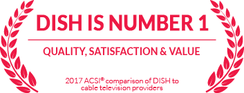 DISH is number 1 in quality, satisfaction and value, according to 2017 ACSI comparison of DISH to cable tv providers