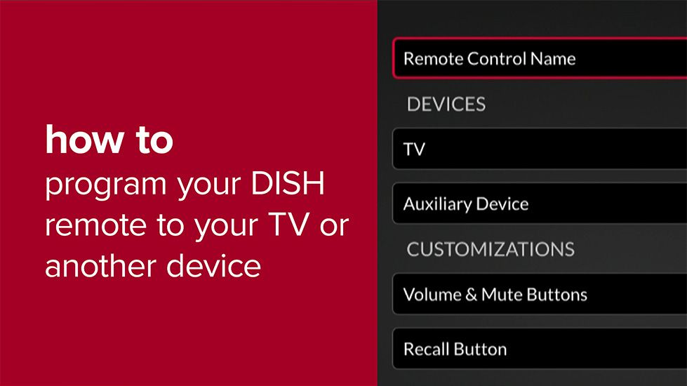 Pair Your DISH Remote to a TV or Another Device