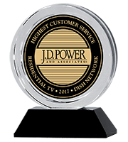 J.D. Power and Associates award for Highest Customer Service in Residential TV for 2017