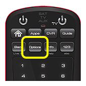 Options button on 50.0 remote (second button in the second row of four buttons)