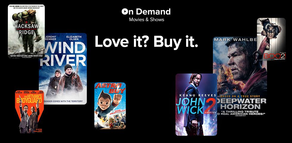 On Demand Movies for Purchase