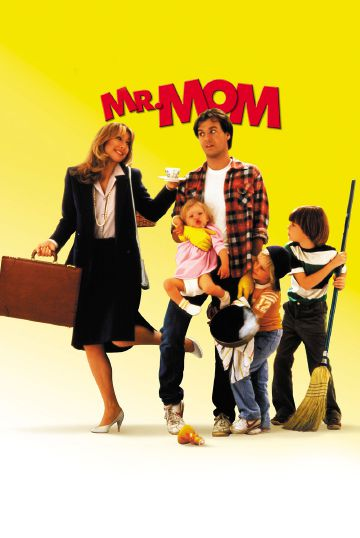 Michael Keaton balances several kids as Mr. Mom