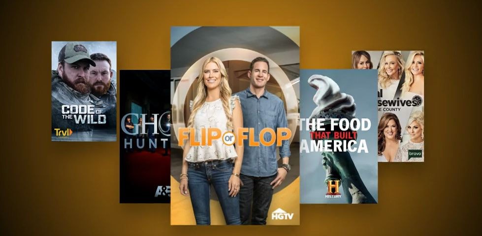 Featured titles for August 2019 include 'Flip or Flop' and 'Ghost Hunters'