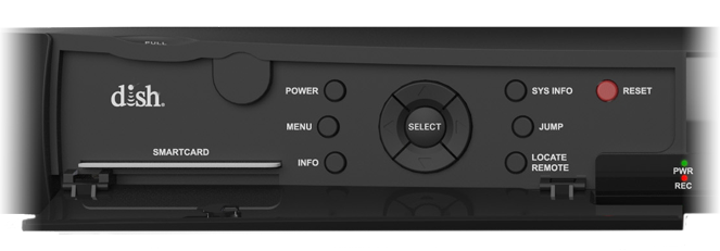 opened front panels of DISH receiver