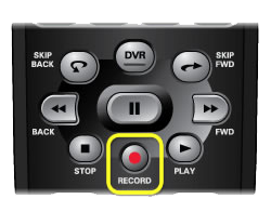 Record button on 40.0 remote (small round button in the middle of the remote, just above the number pad)