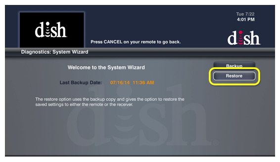 dish system wizard