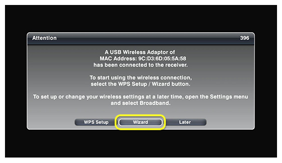 wireless adapter setup pop-up