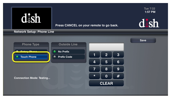 List of phone settings options