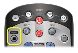 MENU button on 21.x remote